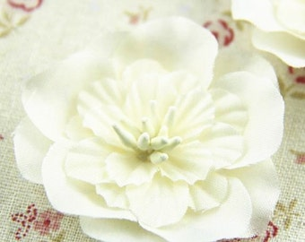 6  pcs of lynon flower cabochon for bride headband necklace 50mm diameter