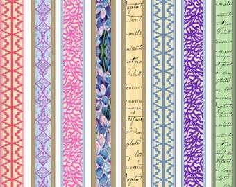 Paper Bead Designer Kit Vintage Pastel  Templates for Paper Beads Kit 1