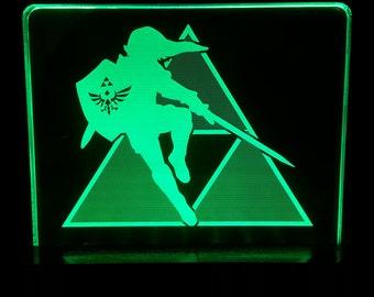 Link and the legend of zelda tri force LED display sign