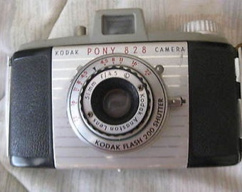 Kodak Pony 828 Camera with Case Vintage C23-5