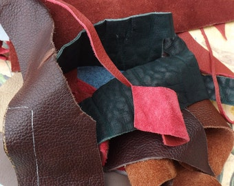 Scrap leather, leather scraps, upholstery leather, offcuts, jewelry making, leather crafts