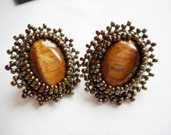 """Earrings """"Tiger Eye"""""""