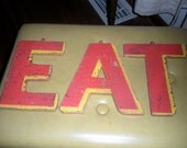 Vintage Carnival Letters EAT Retro Wooden Fair Carnival Props Rustic Home Decor Bedroom Decor