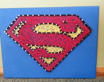 DC Comics Superman String Art