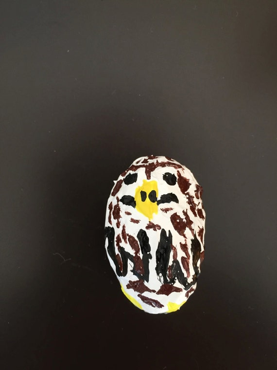 Full-Bodied Owl Painted Rock, Second Edition