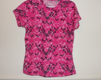 pink tribal club workout athletic top