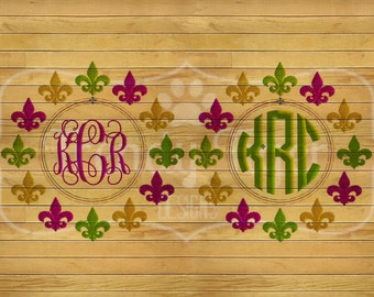 INSTANT DOWNLOAD - Mardi Gras Monogram Frame Embroidery Design, Mardi Gras Embroidery, Mardi Gras, Embroidery Frame, Monogram Frame