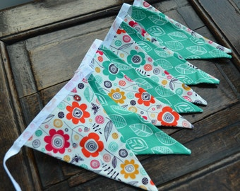 Funky floral bunting