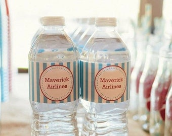 Vintage Airplane Water Bottle Labels (12)