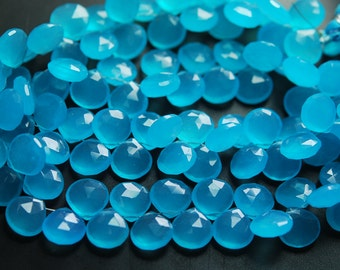 8 Inches,Aqua Blue Quartz Faceted Heart Briolettes 10-11mm Large Size