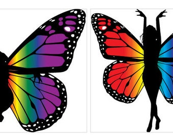 Fairy Collection Vinyl Clings / Stickers (set of 4)