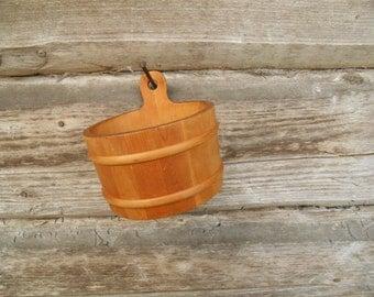 Swedish wooden container Small Wood vessel Handmade wooden goblet Swedish folk art