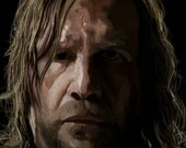 Unframed Poster 11 x 17 inch The Hound of the Game of Thrones Digital Painting