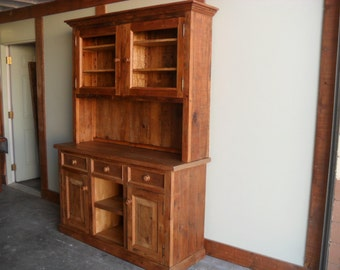 Buffet made from reclaimed wood custom made in the USA