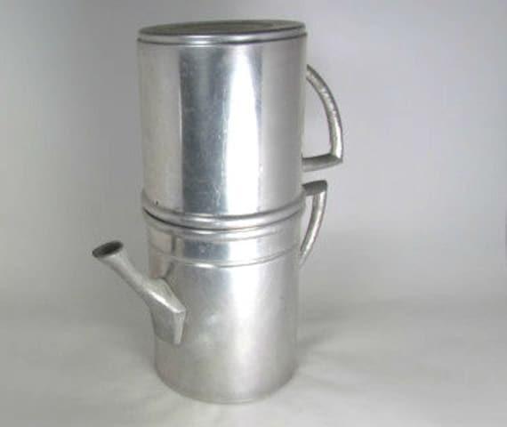 Neapolitan Flip Coffee Pot ~ Neapolitan flip italian coffee pot vintage aluminum