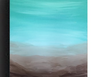 Teal painting- Turquoise painting, Wall Decor, Acrylic painting, modern wall art, seascape painting, wall art, blue Art Sea painting by Sami