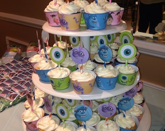 monsters inc cupcake wrappers and toppers