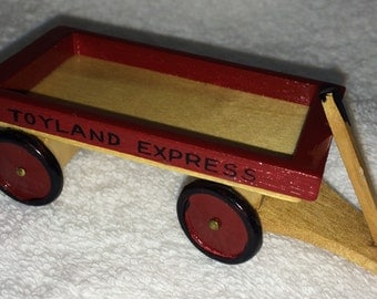 Dollhouse Miniature Toy Wagon in 1 Inch Scale