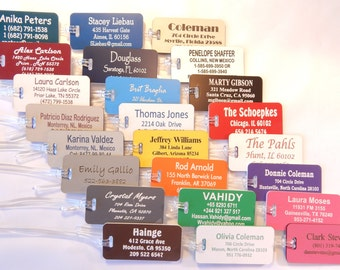 JUMBO Personalized Custom Engraved Luggage Tags 24 Colors to Choose From.