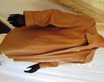 Vintage Camel Wool Clutch, Swing Jacket, Coat,  Lady Scott,  ca 1940s