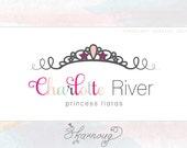 Custom, Premade, Boutique, Photography Logo, Tiara, Princess, Stars Logo Design