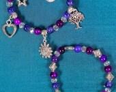 Gypsy's Wish Charm bracelet and stacking bracelet set Gipsy Boho Alternative Stars and moons Bohemian Jewellery