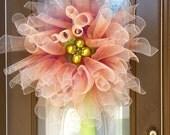 Ombre deco mesh flower