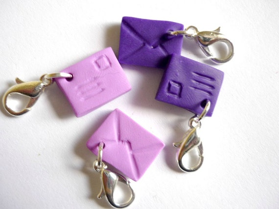 ... crochet, mail stitch markers, polymer clay stitch markers - UK seller