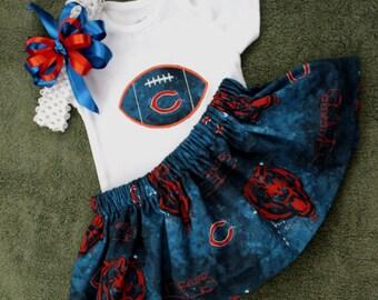 Chicago Bears 3pc Girls Bodysuit set