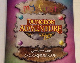 My First Dungeon Adventure: activity and coloring book by unicorgi.com