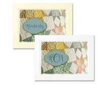 Personalized Foldover Quilt-Theme Panel Note Cards with Envelopes - Design #5