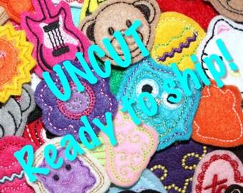 SALE UNCUT ReaDy to SHip Fun Felt Mystery Bag applique embellishment felts (15)