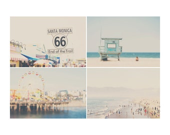 beach photograph santa monica photograph pacific ocean photograph los angeles photograph ferris wheel photograph california photograph