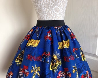 Ladies or girls Transformers full skater style skirt