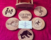 6 Piece Jurassic Park Inspired Coaster Set