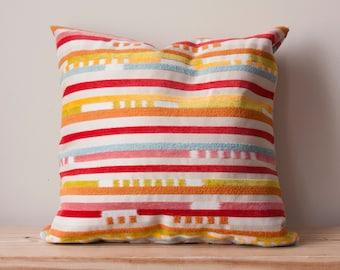 Handmade Velvet Stripe Pillow