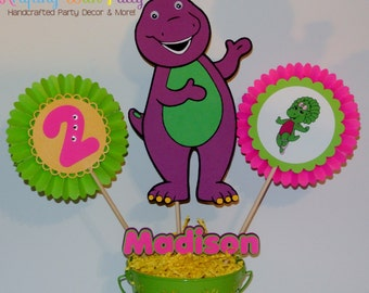 Barney centerpiece sticks /Barney table centerpiece