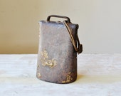 Vintage Cow Bell/ Large cow bell/ Cowboy Country/ Old west/ Farm/ Antique/ rustic/ vintage farm/ industrial/  rusteam