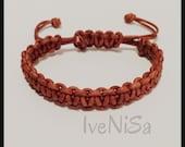 Brown men's leather bracelet . macrame hadmade bracelet. men's brown bracelet. handcrafted bracelet