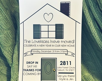 Invitations : moving // housewarming