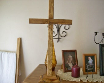 Tiered Standing Wood Cross/ Rustic / Religious / Alter / Wedding