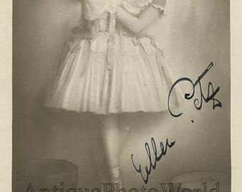 Ballerina choreographer dancer Ellen Petz antique hand signed ballet photo pc