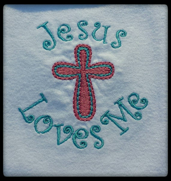 Embroidered bodysuit christian baby clothes