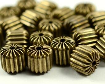 15 Pieces Antique Brass 8x8 mm  Brass Bead