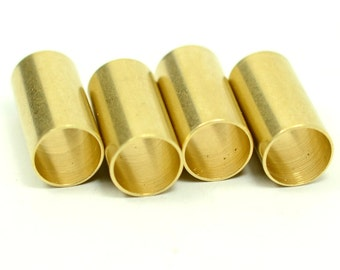 10 Pieces Raw Brass Industrial 10x15 mm Brass Tube Connectors