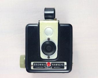 Vintage 1950's Kodak Brownie Hawkeye Camera