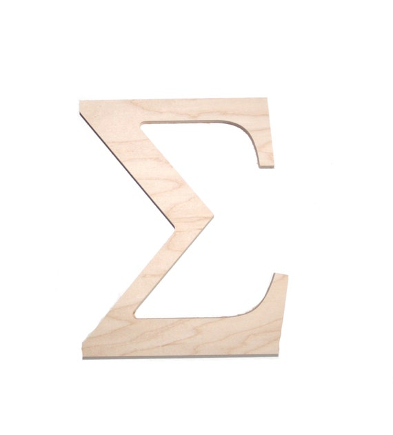Wooden greek sorority and fraternity letter sigma by for Buy wooden greek letters