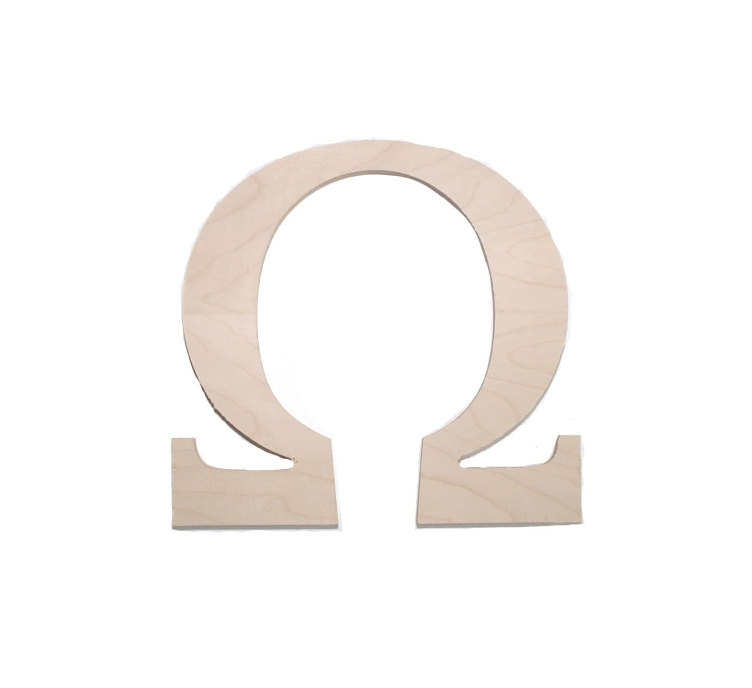 Wooden greek sorority and fraternity letter omega by for Buy wooden greek letters