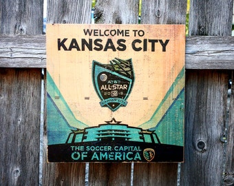Photo Transferred onto Wood- 'Sporting KC'  (free shipping)
