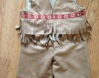 Baby Native American Indian Vest and Pants for little babies sizes 3 months to 18 months